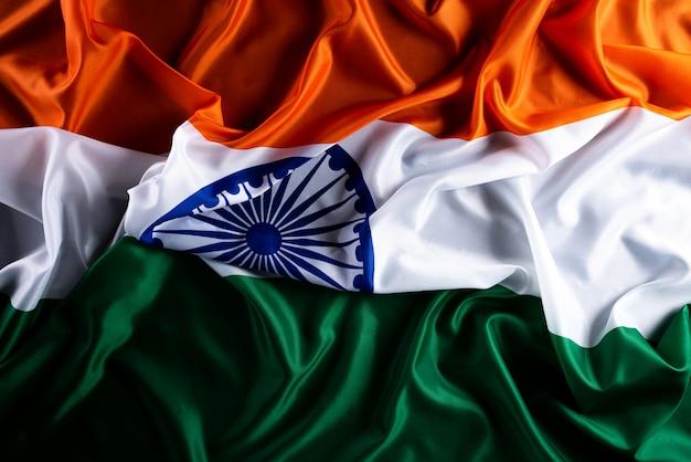 Concetto di festa della repubblica indiana. bandiera indiana sullo sfondo.
