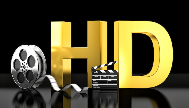 Concetto di film hd