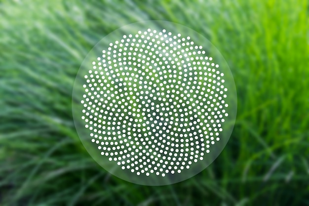 Concetto di fondo sacro con puntini di fibonacci