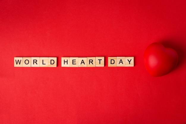 Concetto di giornata mondiale del cuore.
