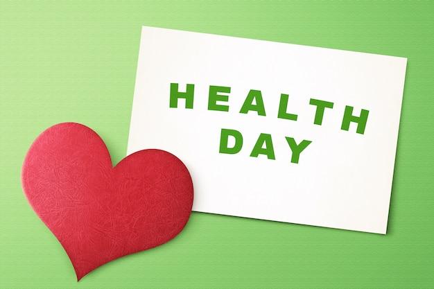 Concetto di giorno di salute