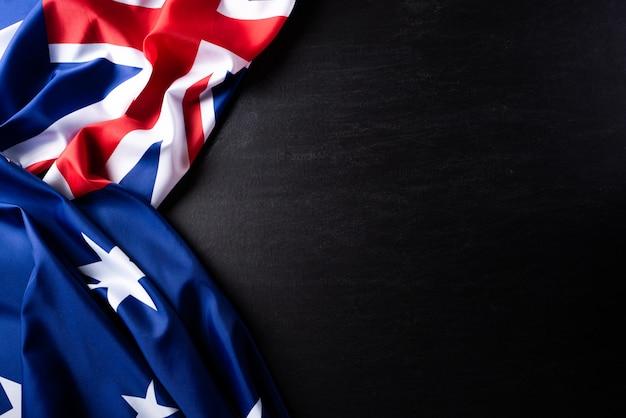 Concetto di giorno in australia. bandiera australiana