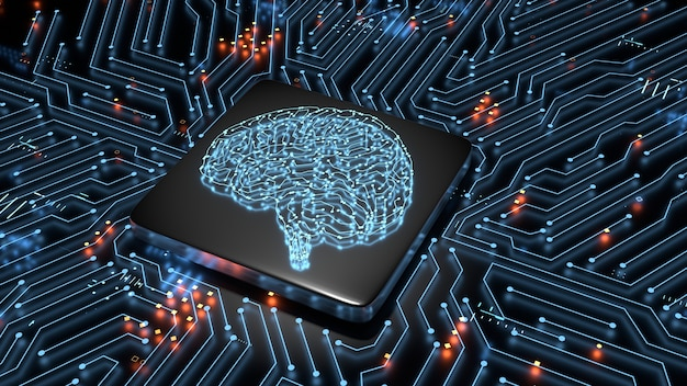 Concetto di hardware di intelligenza artificiale.