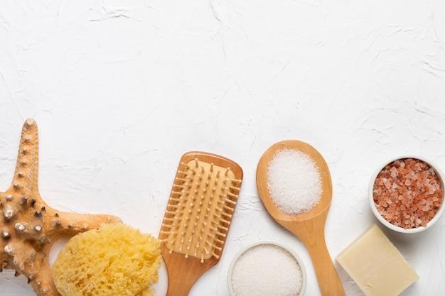 Concetto di igiene prodotti cosmetici spa