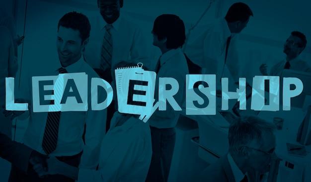 Concetto di influenza di autorità di leadership leadership