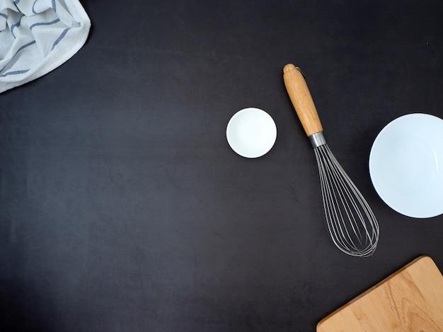 Concetto di ingredienti di cucina casalinga