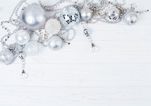 Concetto di inverno decorazioni per l'albero di natale