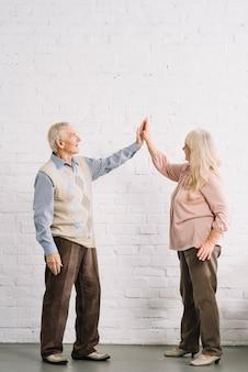 Concetto di lavoro di squadra con coppia senior