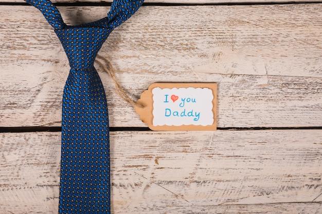 Concetto di legame per il giorno di padri