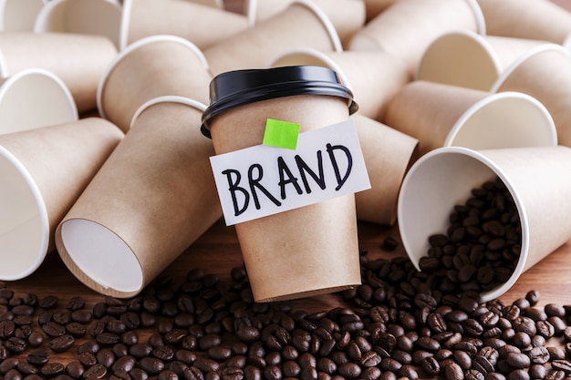 Concetto di marchio di caffè