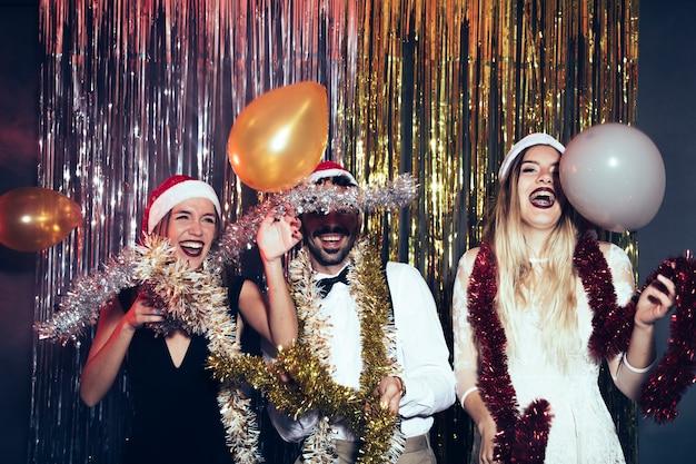 Concetto di partito di new year con la gente del partito
