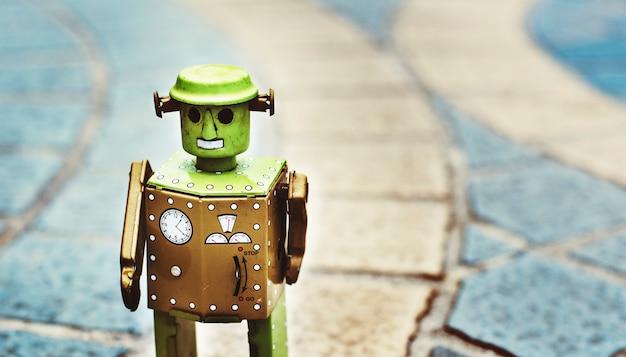 Concetto di progetto della cultura del futuro del mondo del robot