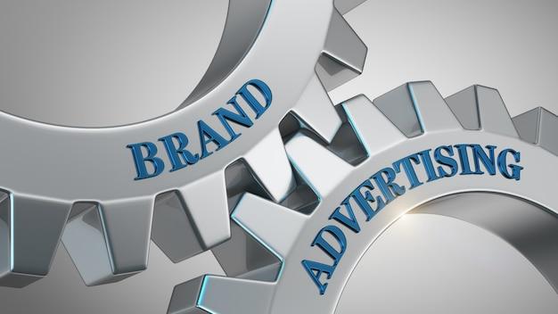Concetto di pubblicità del marchio