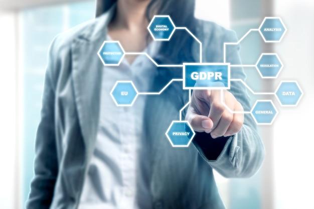 Concetto di regolamento generale sulla protezione dei dati (gdpr)
