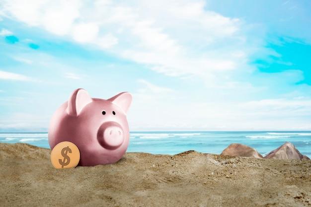 Concetto di risparmio estivo