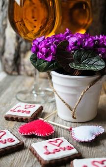 Concetto di san valentino con decorazione