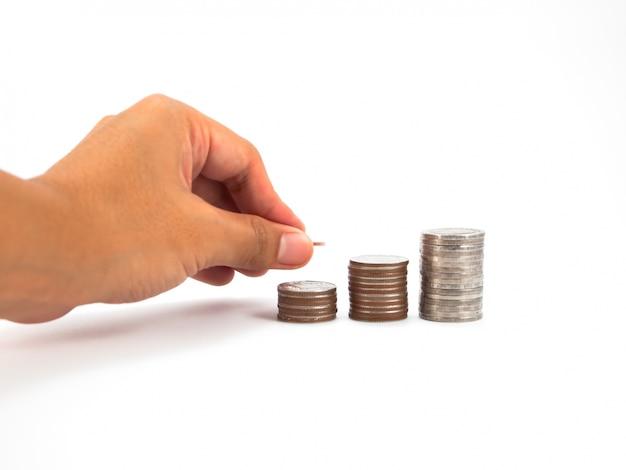 Concetto di schema di contanti finanziaria