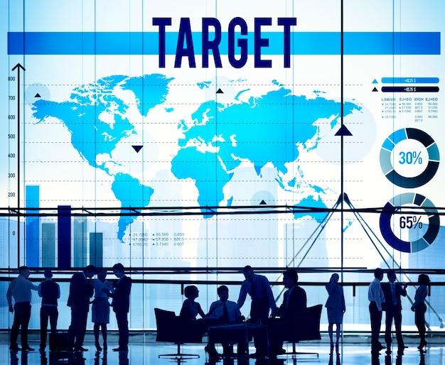 Concetto di scopo di successo di missione di scopo di aspirazione dell'obiettivo