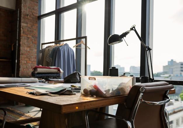 Concetto di selezione dei materiali di design della moda