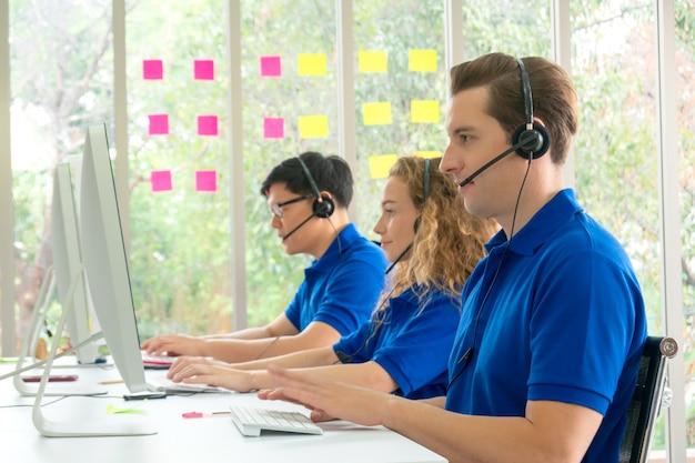 Concetto di servizio di call center