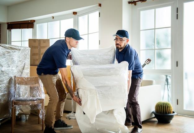 Concetto di servizio di consegna di mobili