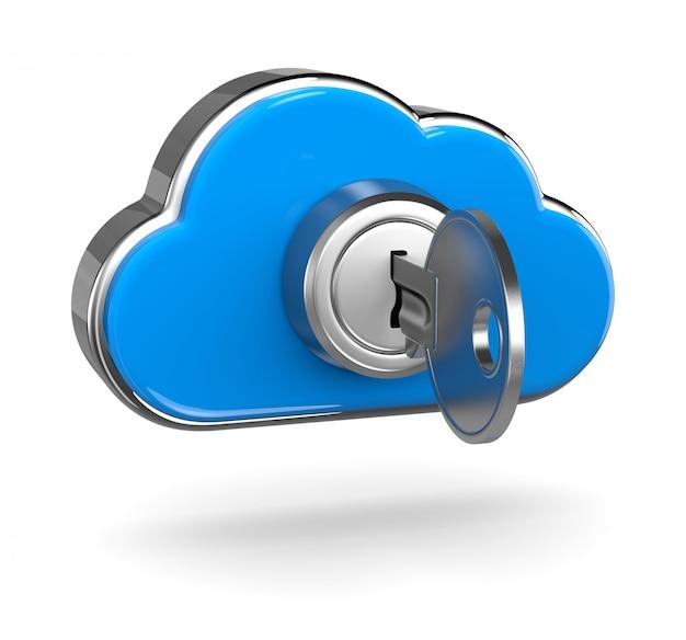 Concetto di sicurezza informatica della nuvola