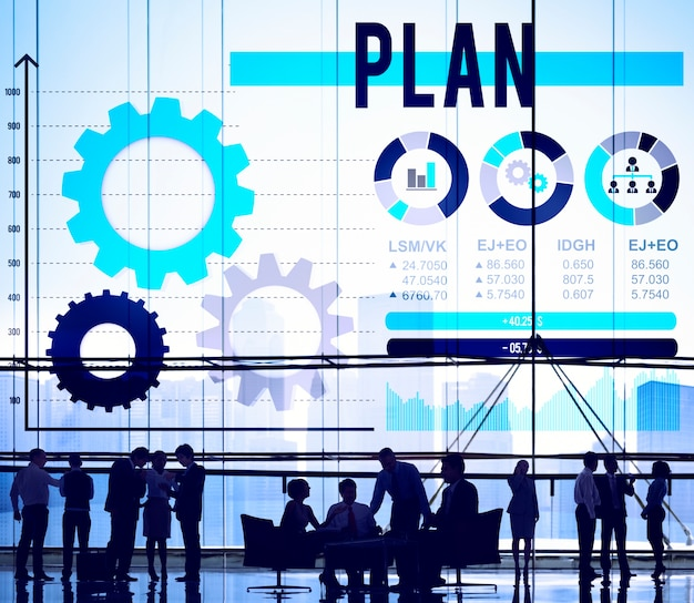 Concetto di soluzione di processo delle linee guida di pianificazione di piano