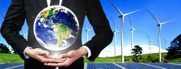 Concetto di sostenibilità con energia alternativa.