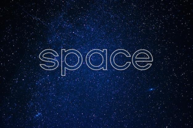 Concetto di spazio. cielo notturno stellato con stelle