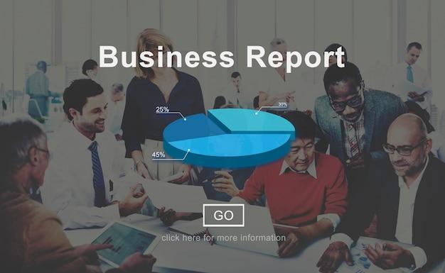 Concetto di statistiche di analisi di analisi dei dati del rapporto di affari