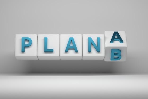 Concetto di strategia alternativa - piano da a a b