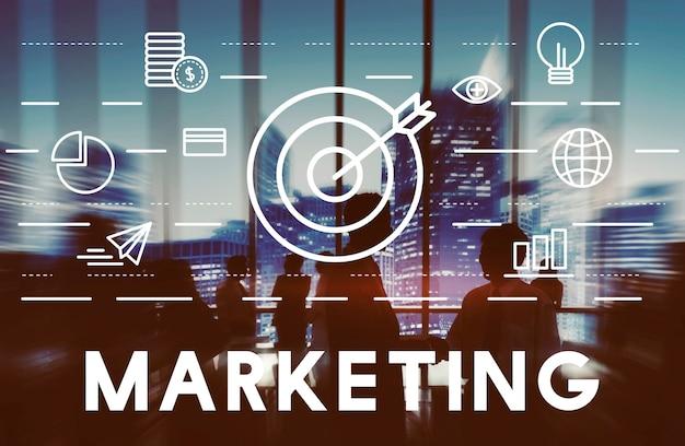 Concetto di strategia commerciale di pubblicità di vendita