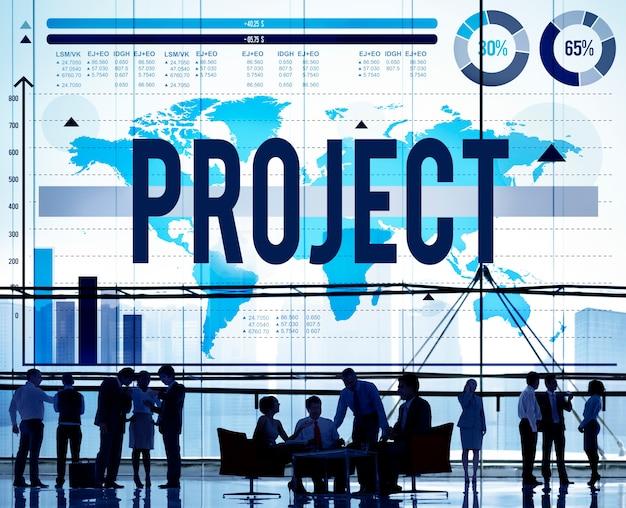 Concetto di strategia della soluzione di attività del programma di piano di progetto