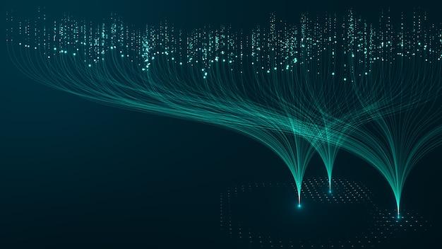Concetto di tecnologia big data.