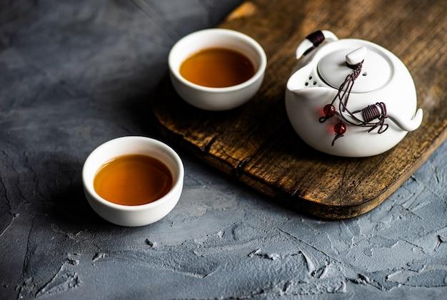Concetto di tempo del tè asiatico