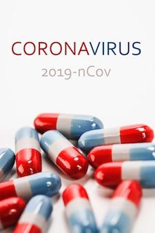 Concetto di trattamento del coronavirus. 2019 ncov coronavirus originario di wuhan, cina.