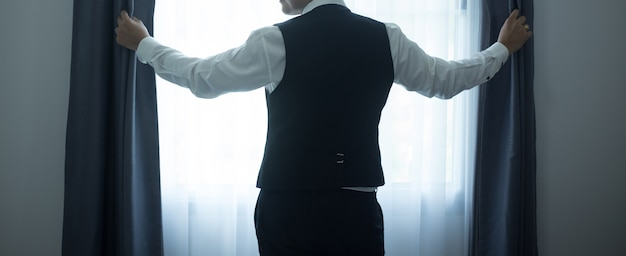 Concetto di uomo e la speranza di affari