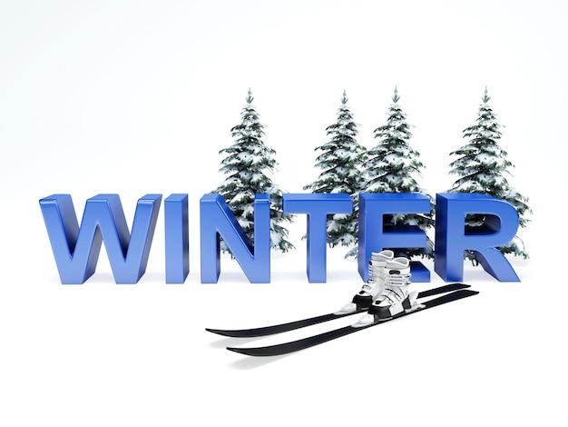 Concetto di vacanza invernale