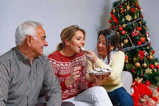 Concetto di valori familiari e atmosfera festosa
