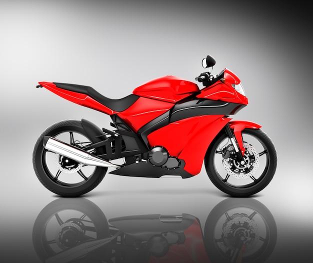 Concetto di veicolo moto motociclistico senza marca