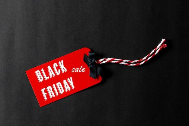 Concetto di vendita commerciale del black friday
