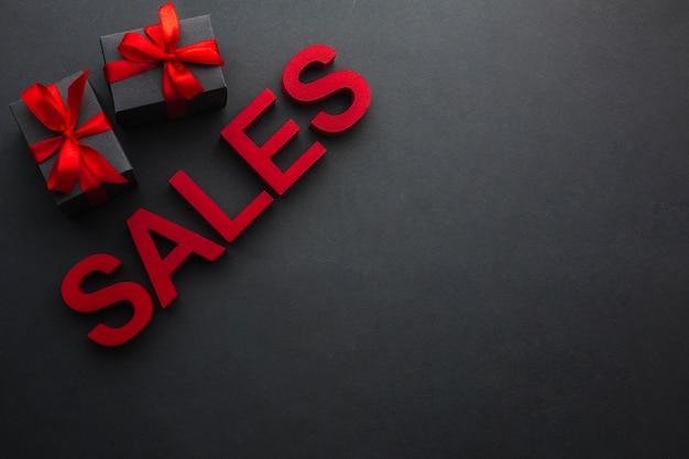 Concetto di vendita con spazio di copia