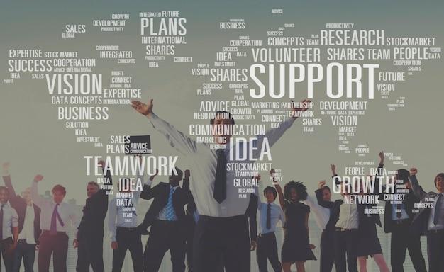 Concetto futuro volontario di piani di crescita di idee di competenza futura