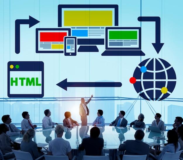 Concetto globale di www della rete digitale di blogging del blog