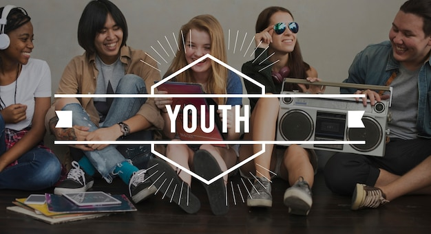 Concetto grafico vettoriale vintage della gioventù