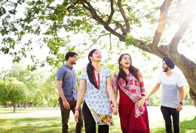 Concetto indiano di amicizia di unità di etnia