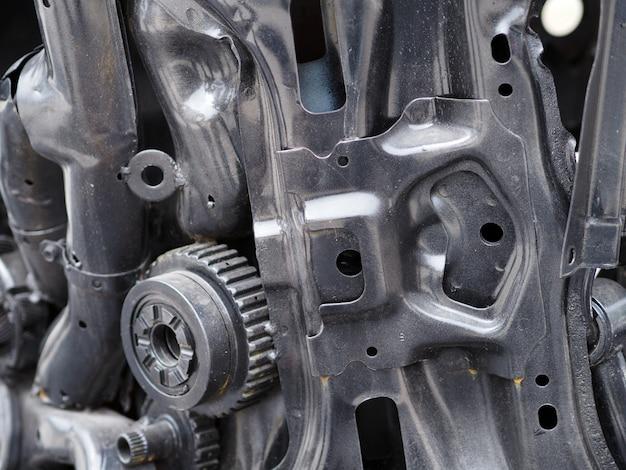 Concetto meccanico di parti di automobili