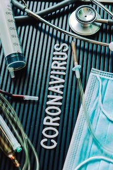 Concetto medico di natura morta di coronavirus