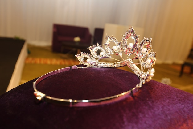 Concorso di bellezza miss pageant diamond silver crown