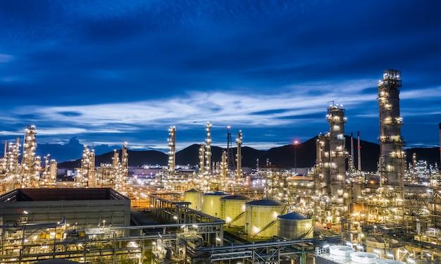 Conduttura delle piante e dei depositi della raffineria di gpl del petrolio e del gas di zona industriale in tailandia